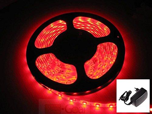 Amazon Prime SMD/LED Streifen 5m in ROT 3,25 €  mit Netzteil Waterproof