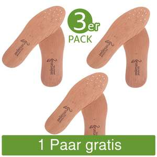 Zedernholzsohlen von Zedersan - 4 Paar zum Preis von einem 3er Pack