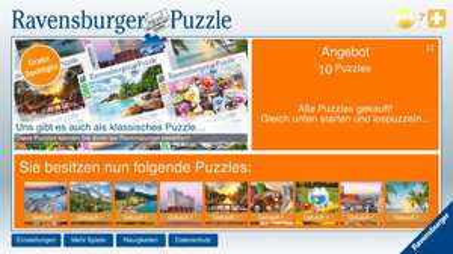 [iOS/Android] Ravensburger Spotlight Puzzle Paket kostenlos