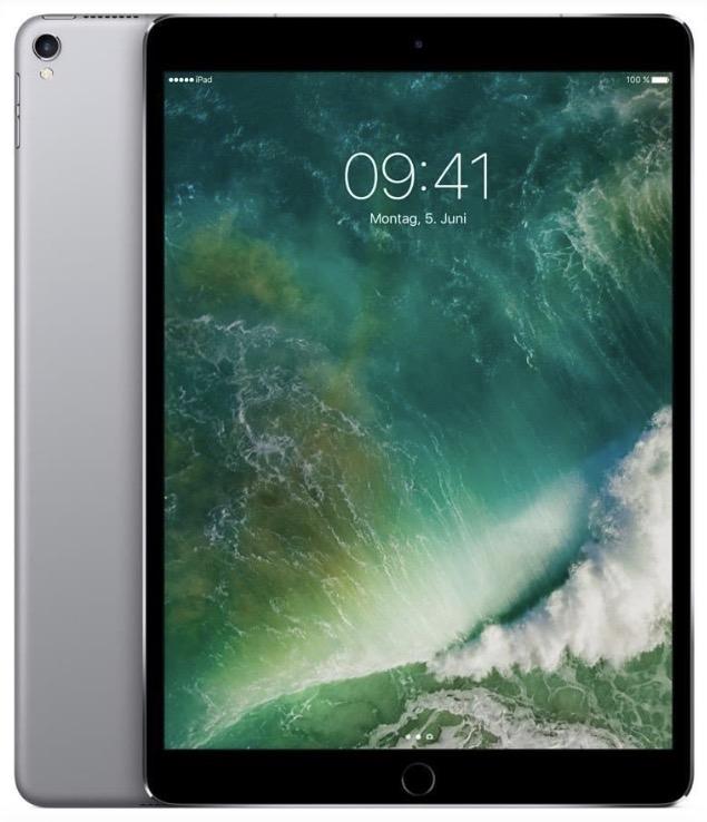 """Apple iPad Pro 10.5 64GB Cellular + Wi-Fi spacegrau 10,5"""" für 731€ mit WLAN, LTE und GPS [Computeruniverse]"""