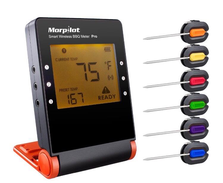 Morpilot Smart BBQ Thermometer mit 6 Fühlern!