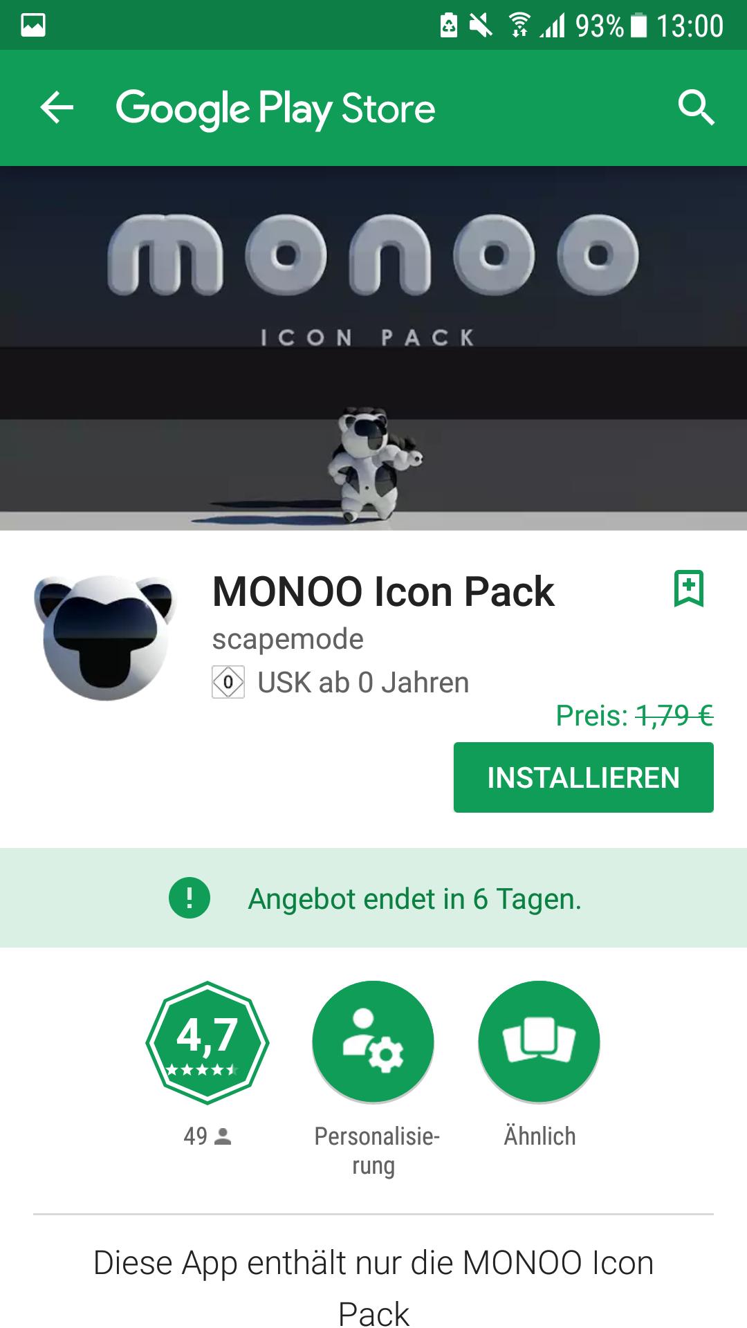 MONOO Icon Pack 0€ statt 1.79€