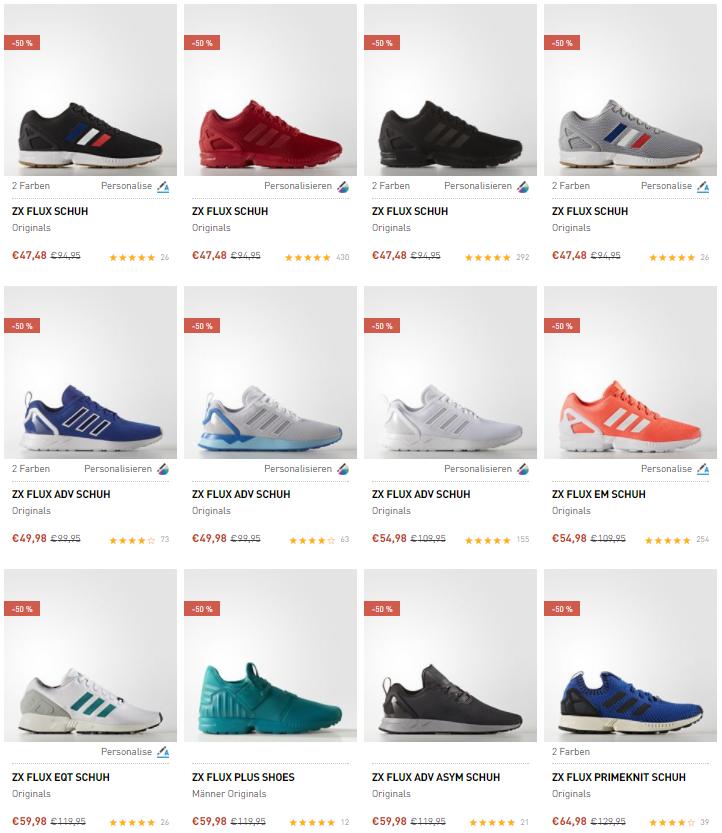 adidas ZX Flux Modelle – schon ab 35,98€