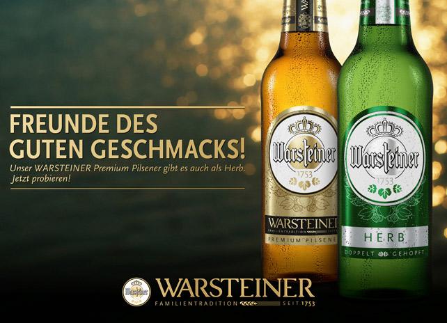 [Rewe] Warsteiner Bier Probierpack mild-hopfig oder herb 3er Pack (3x 0,33l) gratis (+0,24€ Pfand) - Lokal Rewe 47167 Duisburg