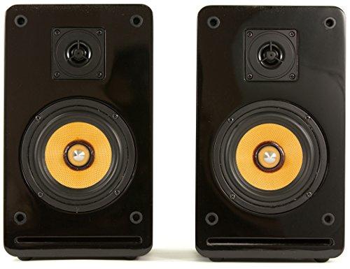 Fatman Classic One 2-Weg Hi-Fi Lautsprecher / Regallautsprecher in schwarzem Klavierlack - 1 Paar