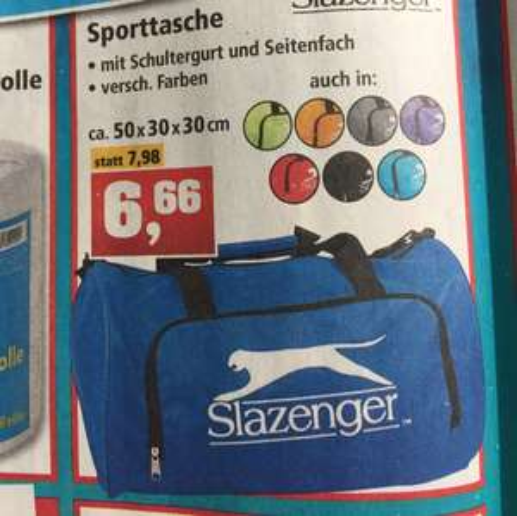 Slazenger Sporttasche 50x30x30 bei Thomas Philipps