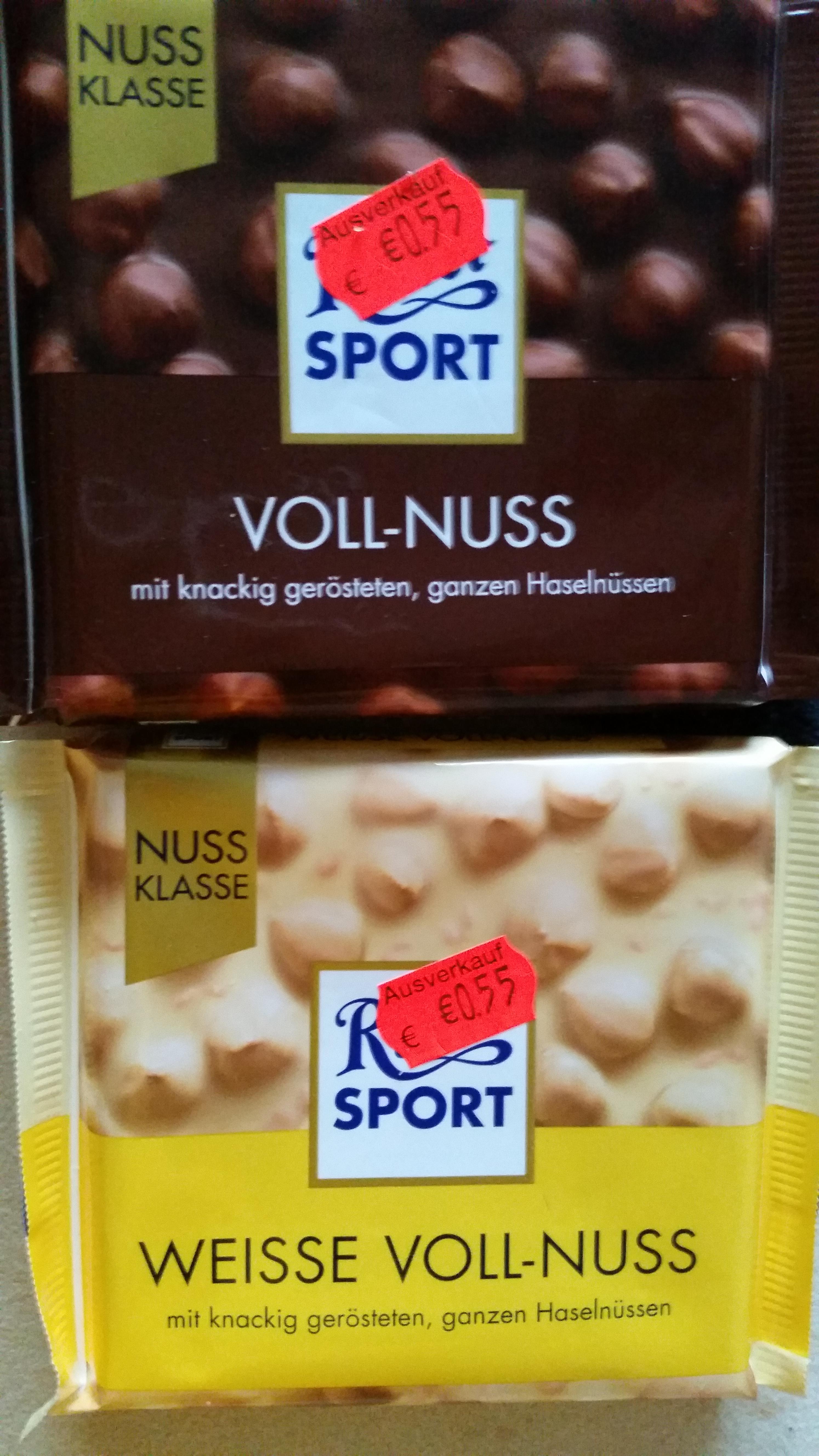 Ritter Sport 100g VOLL-NUSS und WEIßE VOLL-NUSS für einen Endpreis von 0,50€ und Funny Frisch Chipsfrisch für 0,67€ bei ROSSMANN