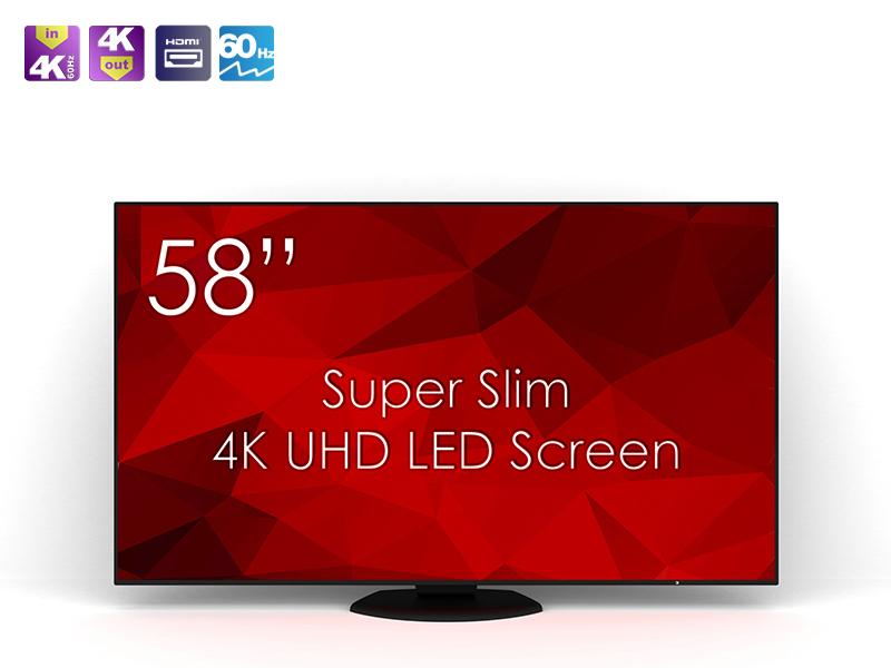 SM-58K1-01 Monitor von [Swedx.se] - ultra slim 58'' UHD Monitor (TV) mit niedrigem Input Lag und HDMI 2.0 (4K@60fps) für 542€