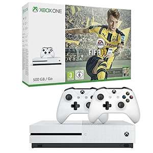 Xbox One S 500GB Konsole - FIFA 17 Bundle + 2. Controller fur 250