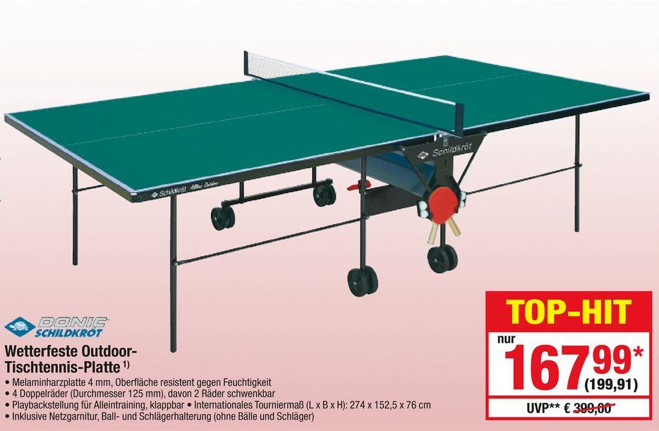 [Metro] Donic Schildkröt/Sponeta Outdoor Tischtennisplatte für 199,91 €. Nächster Idealo 264 €