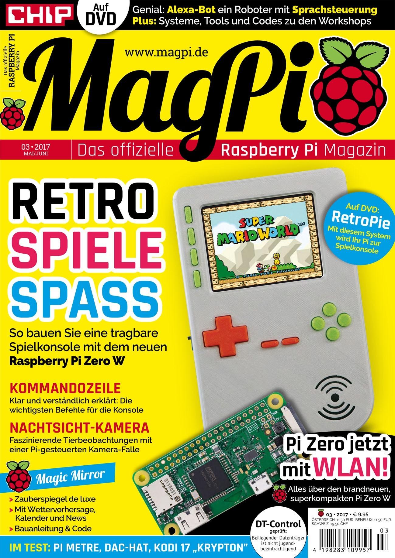 """5 Ausgaben MagPi (""""Das offizielle Raspberry Pi Magazin"""") kostenlos als PDF"""
