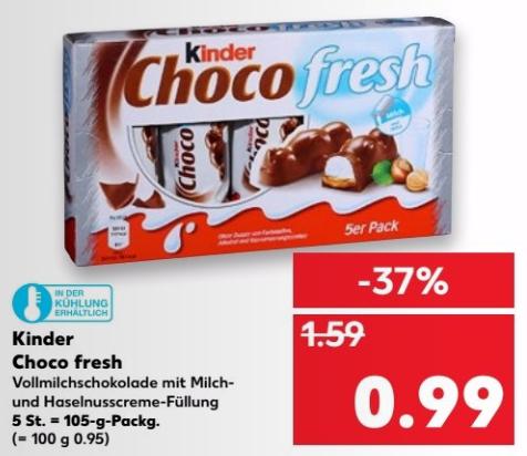 Kinder Choco Fresh 5er Packung für nur 0,99€ (27.07.-02.08.) bei Kaufland