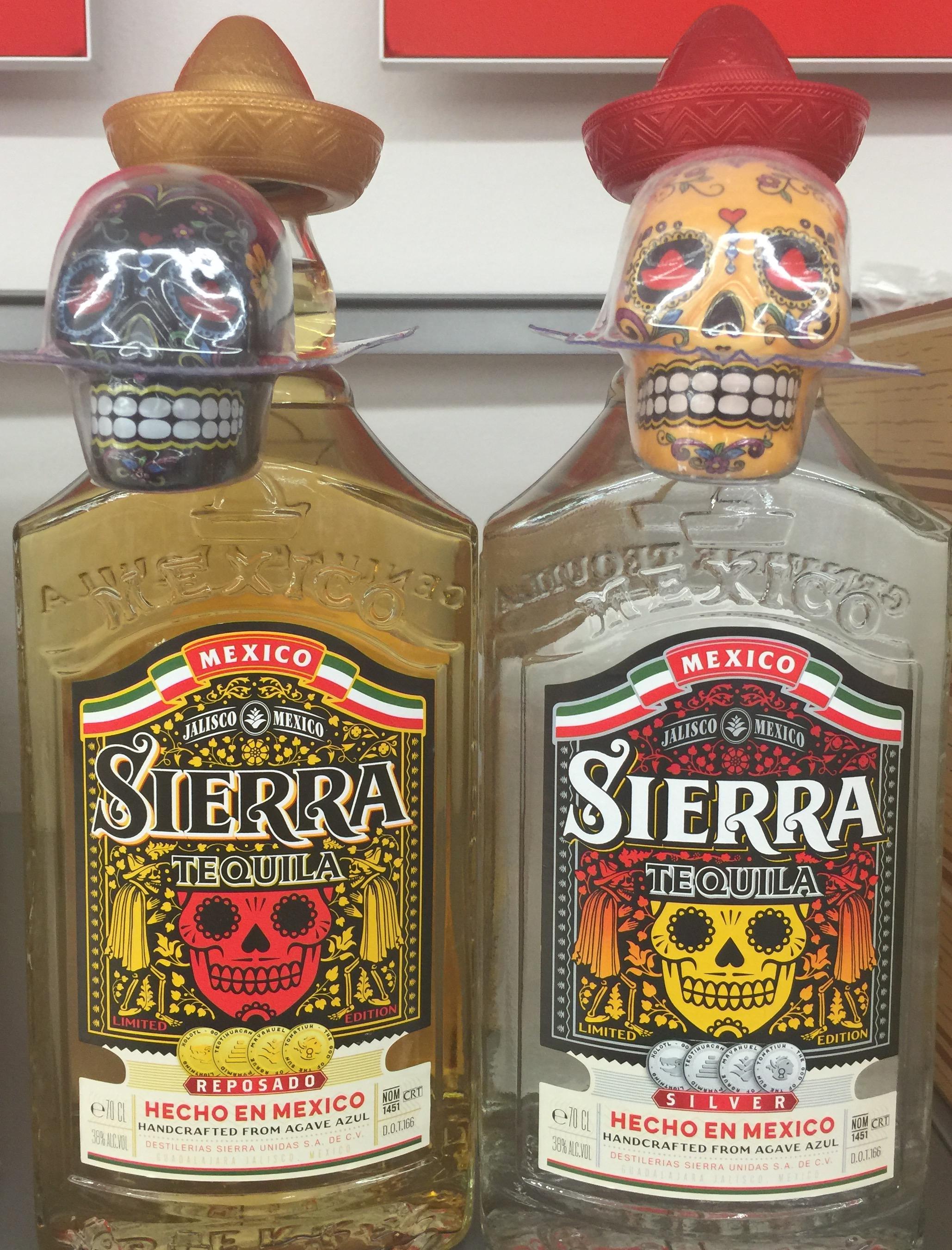 "[Penny + Netto MD] Sierra Tequila ""Are you Loco""-Edition mit Totenkopf-Salz/Zimtstreuer Silver und Reposado je 9,99€"