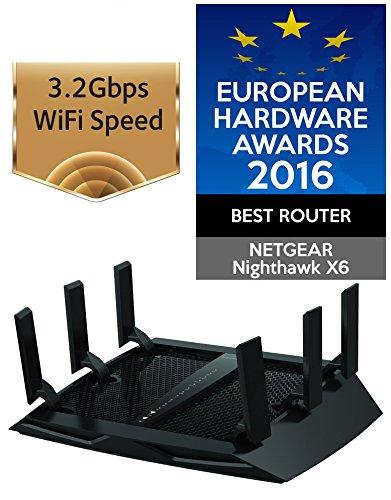 NETGEAR Nighthawk X6 AC3200 R8000-100UKS für 132,60€ (Idealo 195€) - Tri-Band Gigabit Router mit Beamforming+