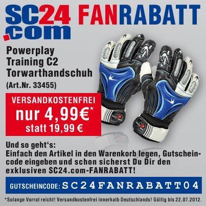 sc24.com Powerplay Training C2 Torwarthandschuhe VERSANDKOSTENFREI für nur 4,99 Euro