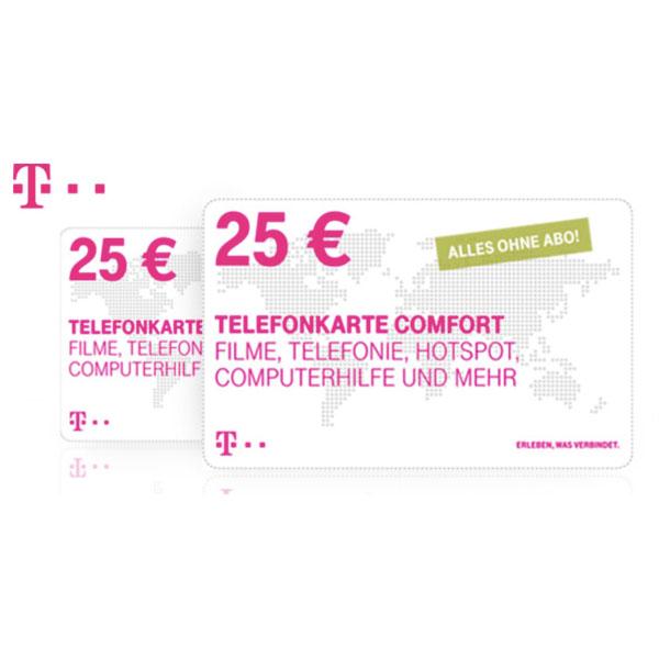 2X 25€ Telekom Comfort Karten für 35 Euro (u.A zum reduzieren der Festnetzrechnung, aufladen von Xtra) [DAILYDEAL]