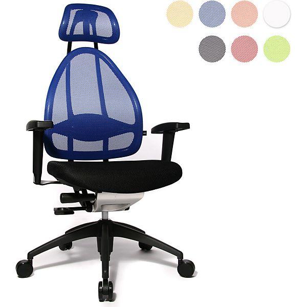 [Plus oder Amazon] Topstar Open Art 2010 OPA0TB980 Bürodrehstuhl mit Armlehnen / Sitz schwarz / Rückenlehne und Kopfstütze blau / 48% unter Idealo