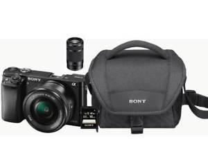 SONY Alpha 6000 Kit Systemkamera 24.7 Megapixel mit Objektiv 16-50 mm, 55-210 mm (MM auf EBAY)