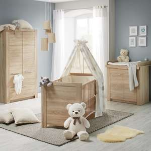 babyzimmer carlotta schrank bett wickelkommode inkl versand f r 249 m. Black Bedroom Furniture Sets. Home Design Ideas