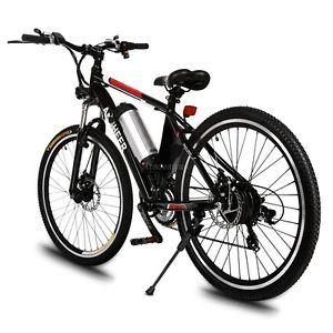 Günstiges E-Bike MountainBike Fahrrad 250W/36V Lion LED Scheibenbremsen bis 35km/h @ebay