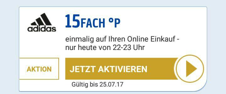 15 Fach Payback bei Adidas.de (22-23 Uhr)