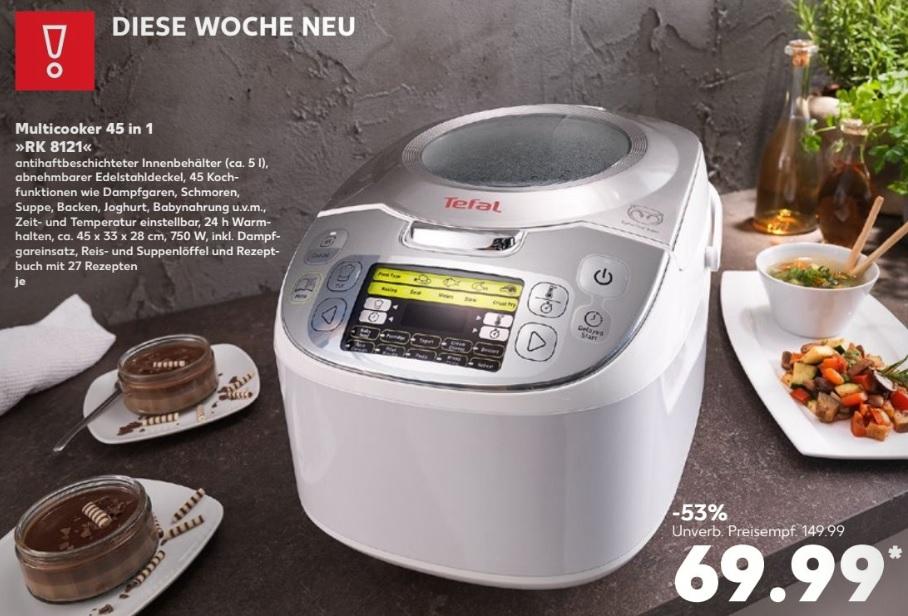 Tefal RK8121 Multicooker 45 in 1 für 69,99 Euro bei Kaufland