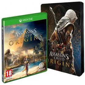 Assassins Creed Origins + Steelbook VORBESTELLER Xbox One shop4de.com