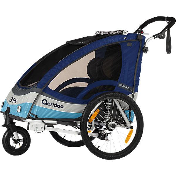 Qeridoo Kinderfahrradanhänger Sportrex2 (alle Farben) für 309,94€ bei [mytoys] mit Neukundengutschein sogar für 263,89 €!