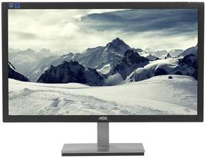 "AOC E2476VWM6 Full-HD Monitor (1.920 x 1.080) mit 23,6"", 1ms Reaktionszeit, EEK A und Anti-Blue-Light-Technologie"