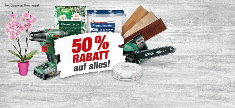 50% auf alles im Toom Baumarkt Berlin-Steglitz (Räumungsverkauf)