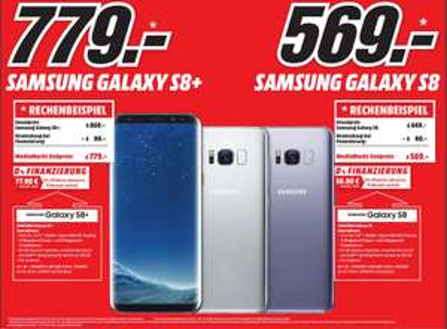 [Lokal Media Markt Mannheim] Samsung Galaxy S8 - 80€ Direktabzug bei 0% Finanzierung = 569€