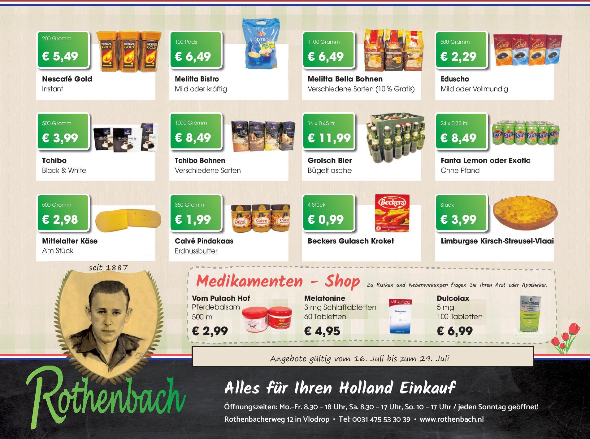 [Grenzgänger NL] Angebote im Rothenbach Supermarkt
