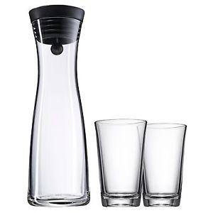 WMF Wasserkaraffe mit 2 Wassergläsern a 0,25 l  ebay 29,95€