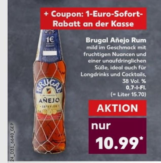 Brugal Añejo Rum (1 x 0.7 l) für 9,99€ [Kaufland ab 03.08 / nicht bundesweit]