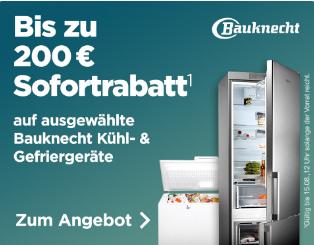 [ao.de] Bauknecht Sofortrabatt Aktion auf Kühlschränke + Gefriertruhen, z.B. Bauknecht French Side-by Side KSN 19 A2+ SW für 699 € (Idealo 899€) oder GTE 608 A++ FA 390 L Gefriertruhe für 499 € (Idealo 568 €)