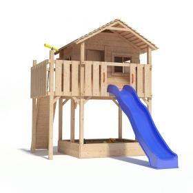 xl baumhaus spielturm mit sandkasten und rutsche f r 609 oder mit schaukeln f r 692. Black Bedroom Furniture Sets. Home Design Ideas