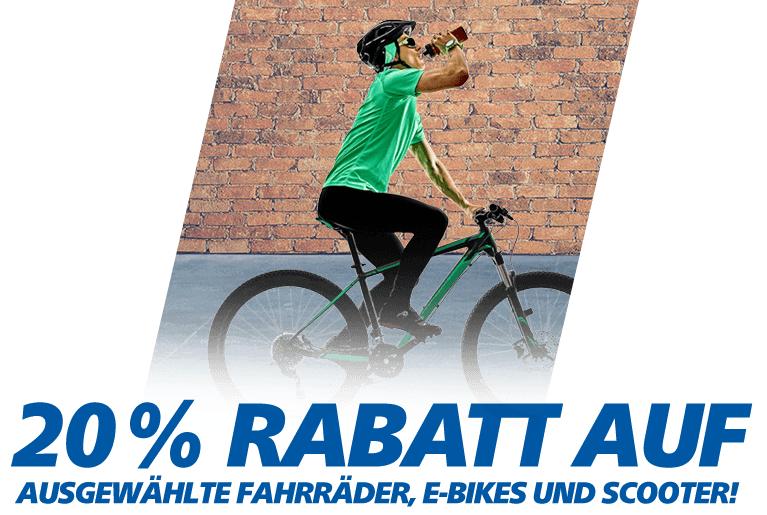 20% Rabatt auf E-Bikes und Fahrräder @real on und offline