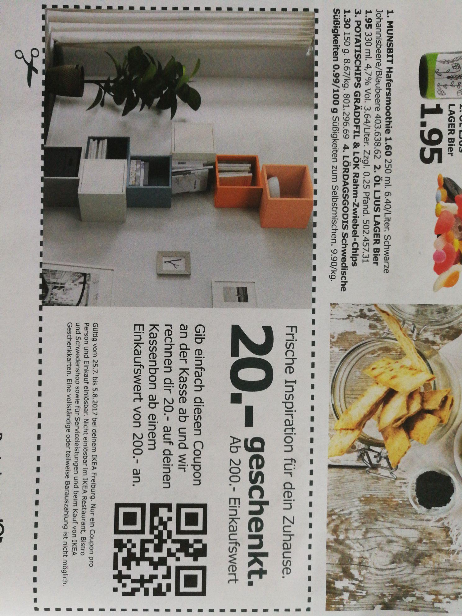 [Lokal] Ikea Freiburg 20€ geschenkt ab 200€ Einkaufswert