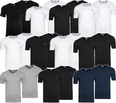 2er Pack U.S. POLO ASSN Rundhals & V-Neck Shirt Herren T-Shirt Freizeitshirt