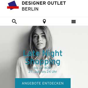 Late Night Shopping Designer Outlet Berlin