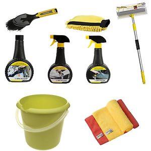Dunlop Autopflege Set Radbürste Waschbürste Shampoo Reiniger Fensterabzieher für 24,99€