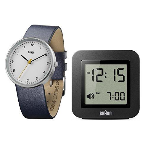Braun Herren Uhren-Geschenkset Analog Leder [Amazon]