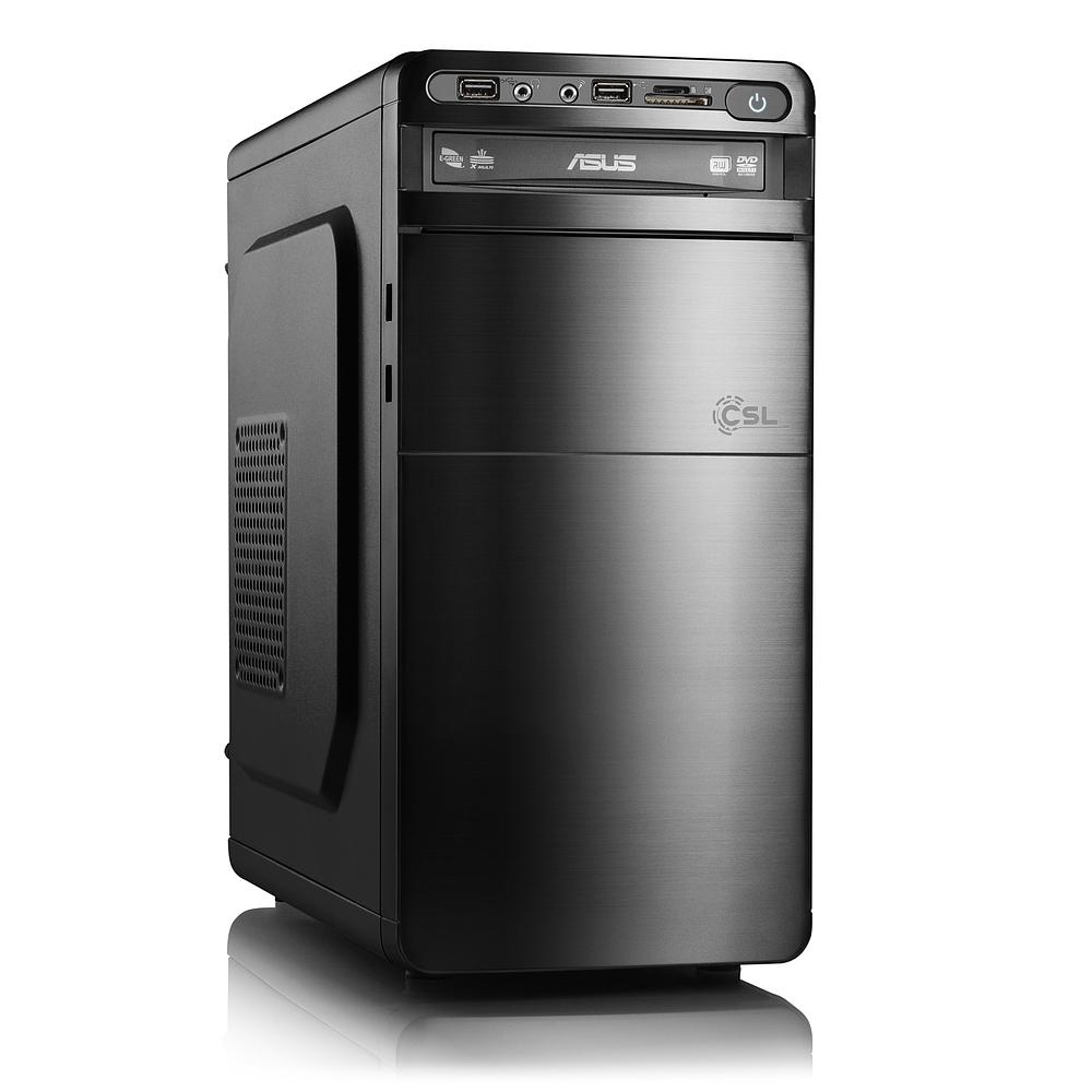 CSL Desktop-PC (i5-7400, 4GB RAM, Asus H110M-A/M.2, ohne HDD, 250W) für 304€ [konfigurierbar] [CSL]