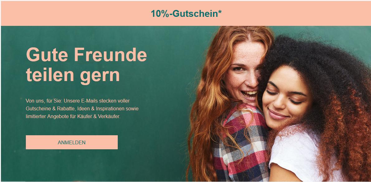 Ebay 10% Gutschein für Newsletteranmeldung