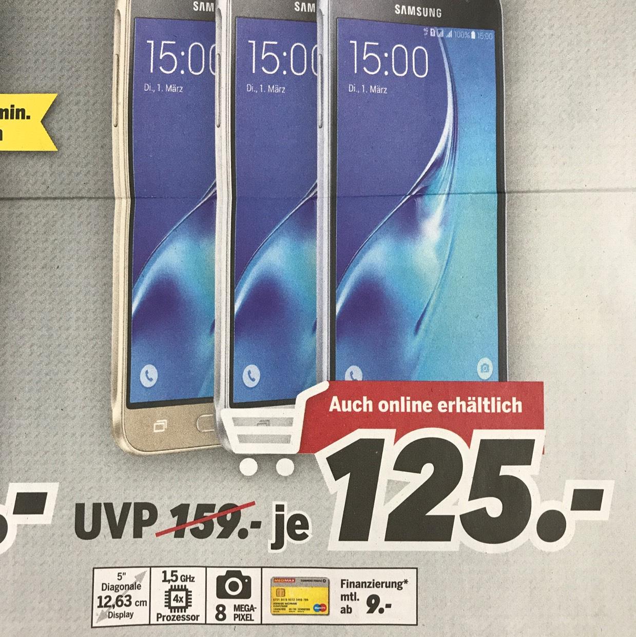 Samsung Galaxy J3 (2016) 125€ -- MEDIMAX