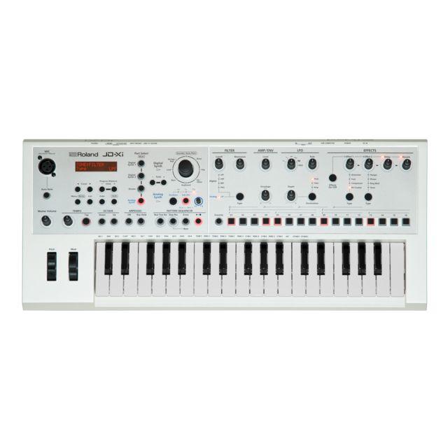 Roland JD-Xi White Synthesizer (hybrid analog/digital)