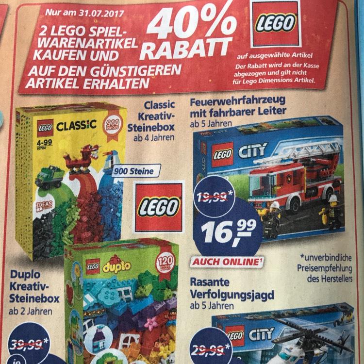 Real 40% auf zweiten Lego Artikel