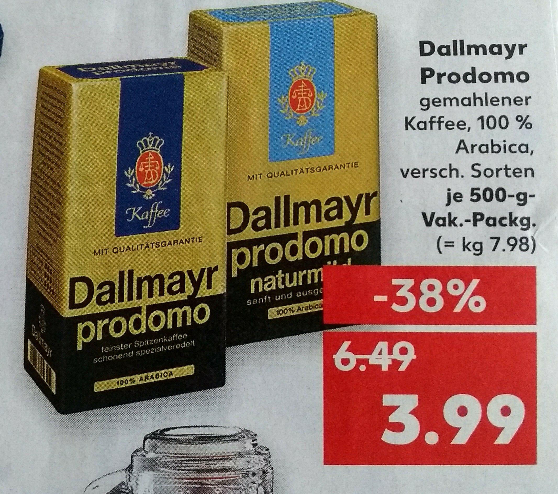 [Kaufland] Dallmayr Prodomo 3,99€ *bundesweit*