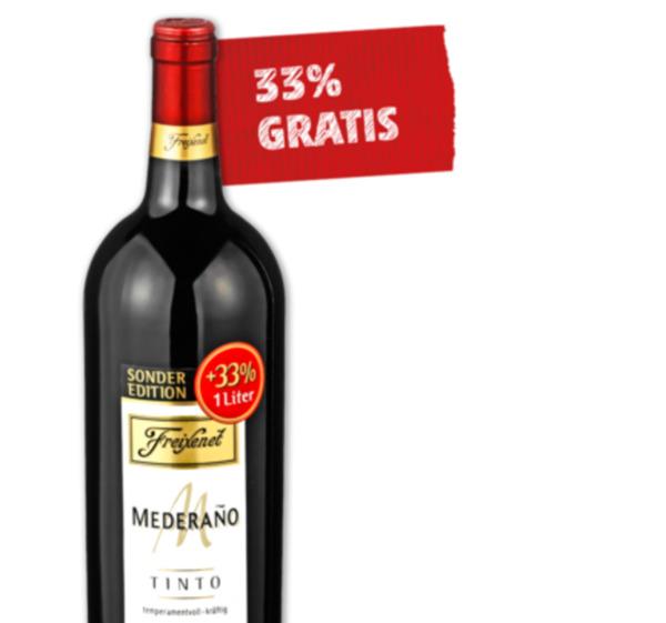 Freixenet Mederano Tinto Rotwein bei Real 2,90 € pro Liter/Flasche 27% Sparen