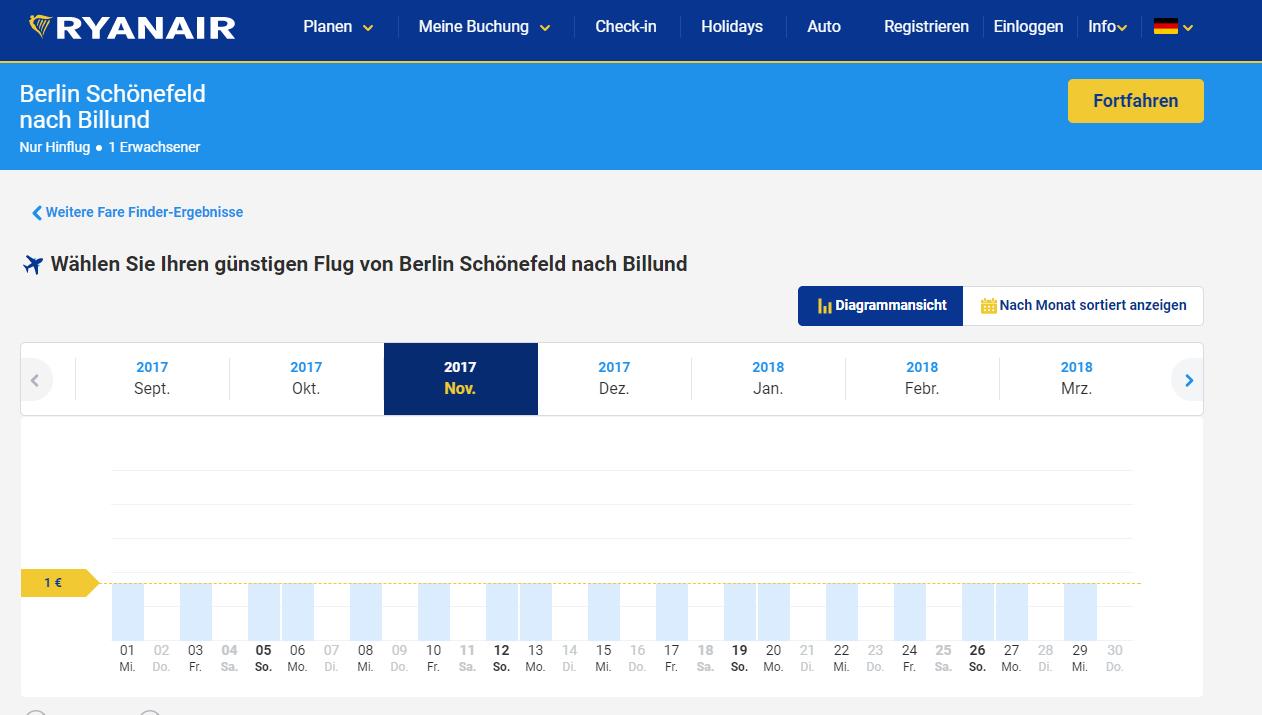 Ryanair: Flüge: Billund - Von Berlin nach Dänemark ab 2€ Hin- und Rückflug!